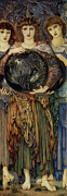 Dresses Digital Art - The Third Day by Edward Burne Jones
