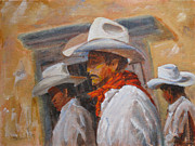 Mexican Horse Paintings - The Three Amigos by Mohamed Hirji
