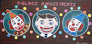 Asbury Park Amusements Painting Originals - The Three Amigos by Patricia Arroyo