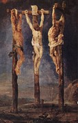 Rubens Digital Art Metal Prints - The Three Crosses Metal Print by Peter Paul Rubens