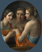 Famous Artists - The Three Graces by Giovanni Martinelli