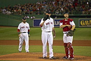 Boston Red Sox Photo Originals - The Three Greats by Amazing Jules