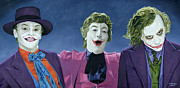 Jack Nicholson Painting Originals - The Three Jokers by Michael Bridges