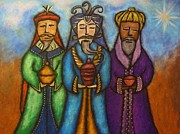 Navidad Paintings - The Three Kings II by Janice Aponte