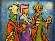 Navidad Paintings - The Three Kings by Janice Aponte