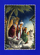 Nativity Paintings - The Three Kings by Lynn Bywaters
