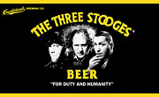 Distress Framed Prints - The Three Stooges Beer Framed Print by Official Three Stooges