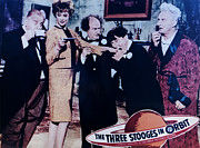 Television Stars Prints - The Three Stooges In Orbit Print by Official Three Stooges