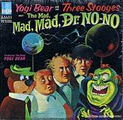 Distress Posters - The Three Stooges Meet The Mad Mad Mad Dr No No Poster by Official Three Stooges