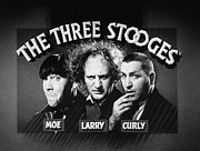 Distress Framed Prints - The Three Stooges Opening Credits Framed Print by Official Three Stooges