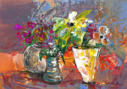 Still Life - The Three Vases by Miki De Goodaboom