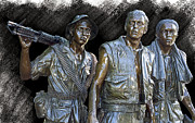 Patriots Digital Art Prints - THE THREE WARRIORS of VIETNAM Print by Daniel Hagerman