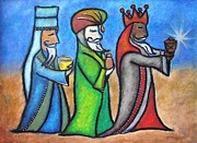 Navidad Paintings - The Three Wise Men II by Janice Aponte