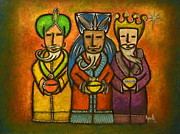 Navidad Paintings - The Three Wise Men by Janice Aponte