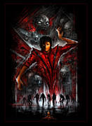 Michael Framed Prints - The Thriller Framed Print by Alex Ruiz