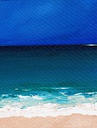 Seashore Paintings - The Tide Coming In by Frances Marino