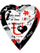 Urban Art Mixed Media Metal Prints - The time to love Metal Print by adSpice Studios