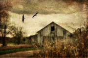 Old Barns Digital Art Acrylic Prints - The Times They Are A Changing Acrylic Print by Lois Bryan