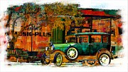 Ford Model T Car Digital Art Framed Prints - The Tin Lizzie Framed Print by Barbara Chichester