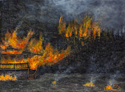 Colorado Fires Paintings - The Tinder Box by Catfish Lawrence
