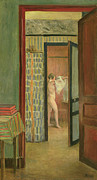 Voyeuristic Framed Prints - The Toilet Framed Print by Henri Lebasque