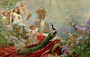 Goddess Of Love Prints - The Toilet of Venus Print by KE Makovsky