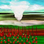 Storm Digital Art - The Tomatoes And The Tornado by Andee Photography