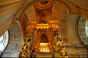 Gold Prints - The Tombs at Les Invalides - Paris France - 011324 Print by DC Photographer