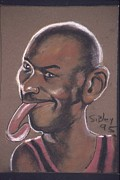 Michael Jordan Digital Art Prints - The Tongue Print by John Sibley