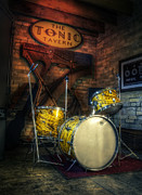 Drum Set Art - The Tonic Tavern by Scott Norris