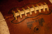 Footballs Closeup Framed Prints - The Tool of the Gridiron Framed Print by David Patterson