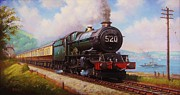 1950s Painting Originals - The Torbay Express. by Mike  Jeffries