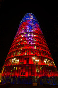 Barcelona Art - The Torre Agbar by Deborah Smolinske