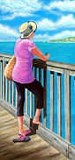 Key West Paintings - The Tourist by Susan DeLain