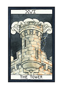 Ambition Mixed Media Prints - The Tower Print by Nora Blansett