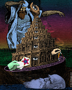 Archetypal Posters - The Tower of Babel Poster by Eric Edelman