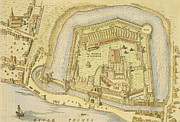 The Tower Of London, From A Survey Made Print by English School