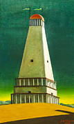 Chirico Posters - The tower of silence by Giorgio de Chirico Poster by Stefano Baldini