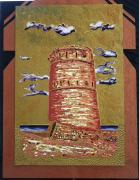 Ruins Mixed Media Originals - The Tower by Ray Khalife