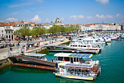 Seaport Photo Posters - The Town and Port of La Rochelle Poster by Nila Newsom