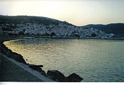 Skopelos Acrylic Prints - The town of Skopelos Acrylic Print by Katerina Kostaki