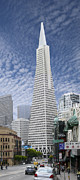 Skyscraper Digital Art - The Transamerica Pyramid - San Francisco by Mike McGlothlen