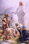 Bible Painting Prints - The transfiguration Print by Harold Copping