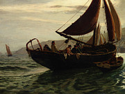Row Boat Prints - The Trawler Print by Charles William Hemy