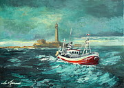 Trawler Paintings - The Trawler by Luke Karcz