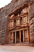 Treasury Framed Prints - The Treasury in Petra Jordan Framed Print by Robert Preston