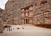 Jordan Photo Originals - the treasury Nabataean ancient town Petra by Juergen Ritterbach