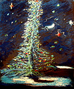 Starry Pastels - The Tree by Joseph Hawkins
