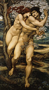 Adam And Eve Digital Art Framed Prints - The Tree Of Forgiveness Framed Print by Edward Burne Jones