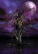 Mysterious Digital Art Metal Prints - The Tree of Sawols Metal Print by John Edwards